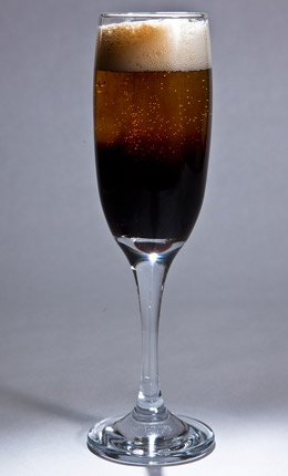 Black velvet: Guinness + Prosecco (about 1:1). Pour stout and then ...