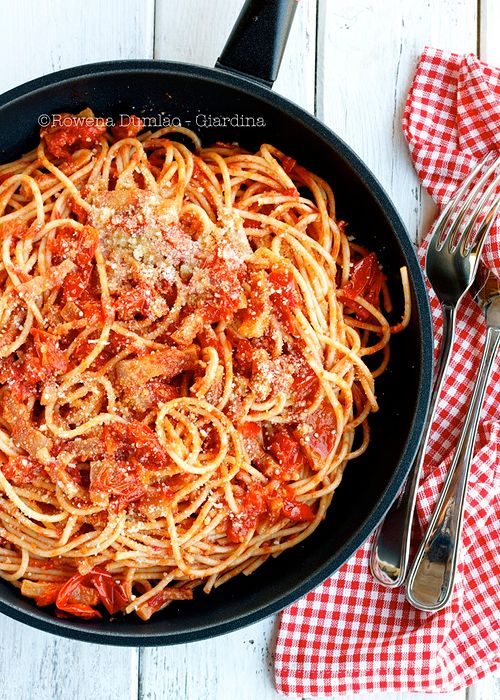 Pasta all'amatriciana | Food | Pinterest