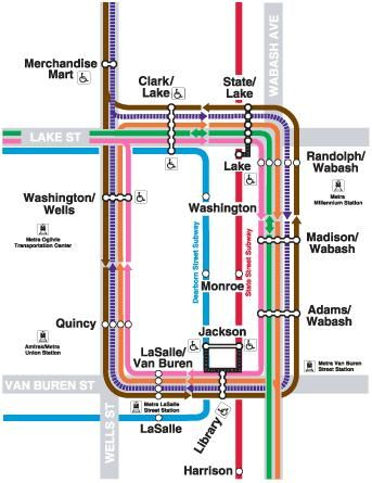 Chicago Loop Train Map  Gianna39s Chi Town  Pinterest