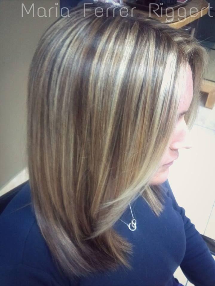 Master hair stylist tri color dimension bright highlights