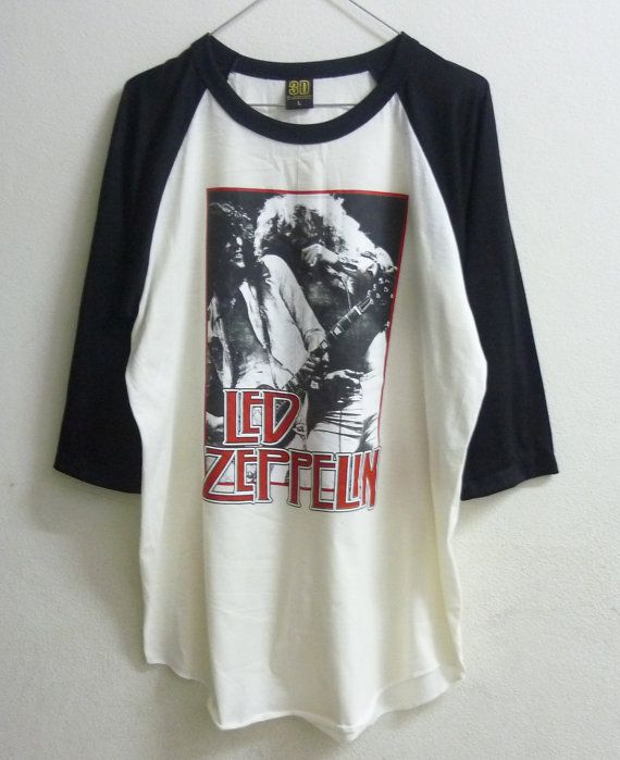 raglan tshirt size m l led zeppelin shirt men women t. Black Bedroom Furniture Sets. Home Design Ideas