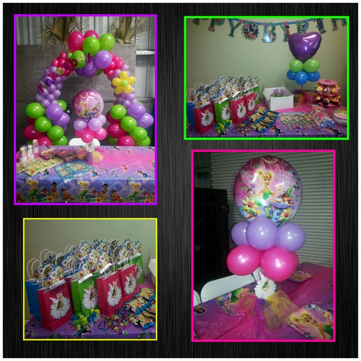 Tinkerbell Balloons Decorations | Party Favors Ideas