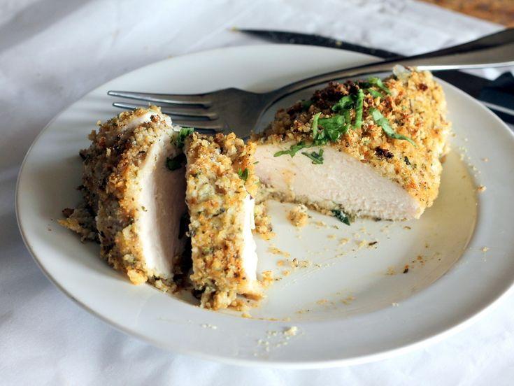 Crispy Garlic + Parmesan Oven-Fried Chicken #Dinner #Chicken #Recipes ...