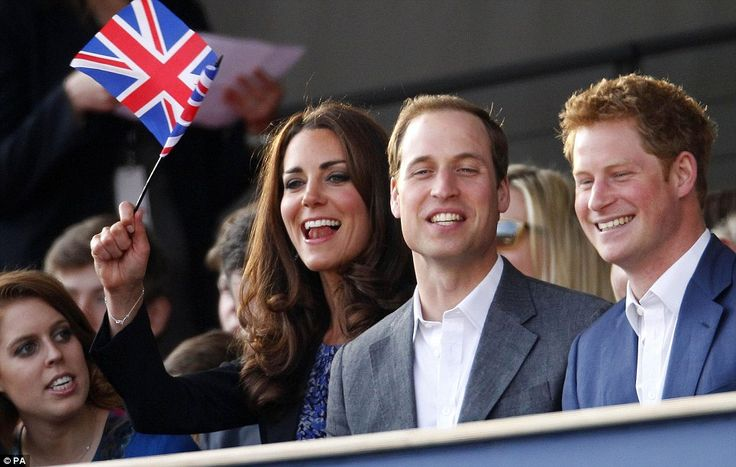 Kate, Prince William & Harry at the Diamond Jubilee concert 4/6/12.