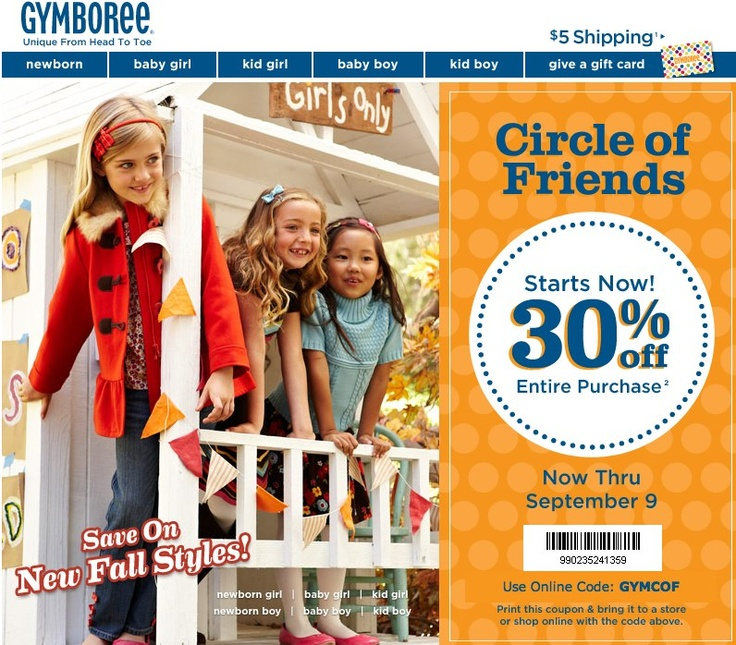 Gymboree coupons printable october 2018