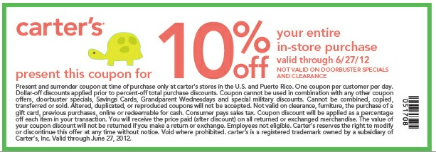 Carters printable coupons july 2018