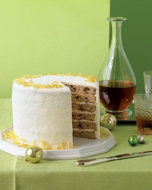 Layered Fruitcake with Creme Fraiche Frosting | Recipe