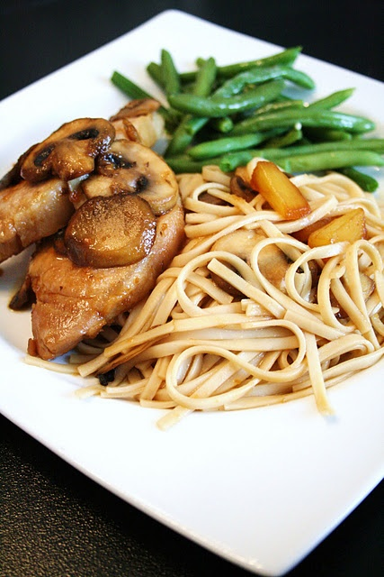Pineapple Teriyaki Pork w/Soba Noodles | Recipes | Pinterest