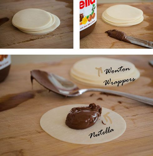 How to make Baked Nutella Ravioli | Recipes to try | Pinterest
