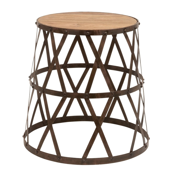 loving this metal and wood stool