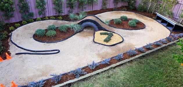 race track garden outside pinterest