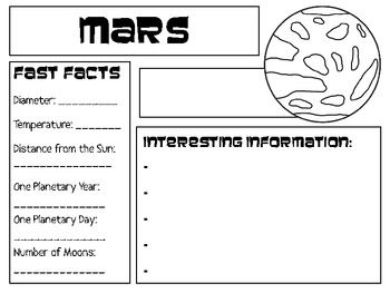 planets research paper