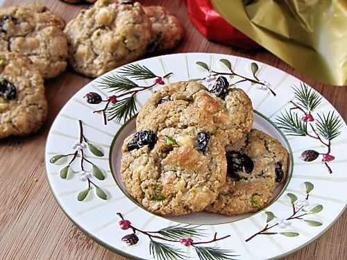 ... Oatmeal White Chocolate Chip Cookies with Pistachios & Dried Cherries