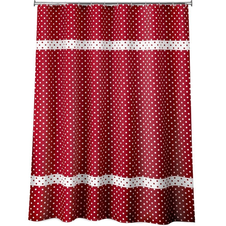 Laura Ashley Striped Curtains Red Polka Dot Chair Cushions