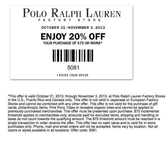 Polo coupon code