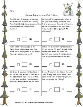 1st grade math problems