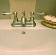 how to remove a rust stain in a white porcelain sink. Black Bedroom Furniture Sets. Home Design Ideas
