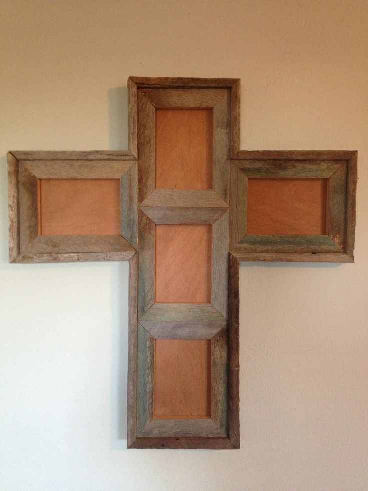 barn wood cross picture frame projects pinterest