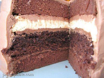 double chocolate cheesecake layered cake!