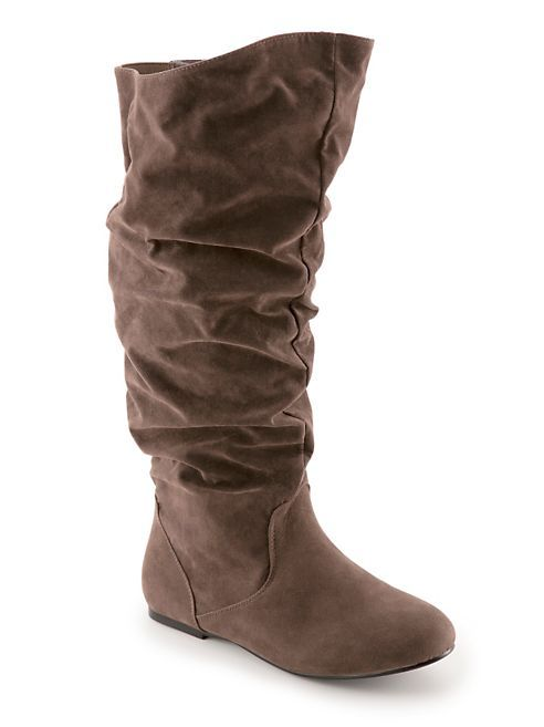 wide calf suede rouched boot dots plus size clothes