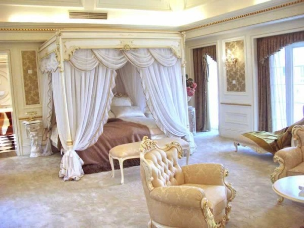 Elegant canopy bed decor inspirations pinterest for Classy beds