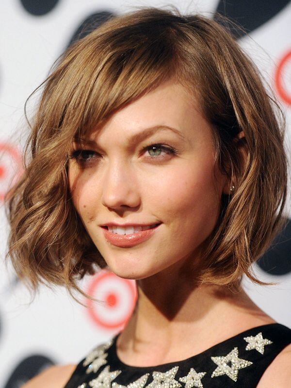 Karlie Kloss short wavy bob with bangs Hair and Beauty
