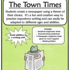 FREE newspaper writing activity!  Includes assignment sheet, brainstorming sheet, rubric and templates. Grades 4-9
