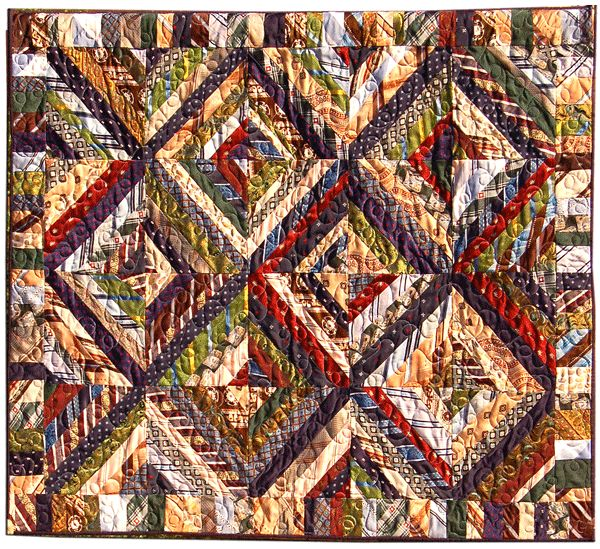 Necktie Quilt Patterns For Beginners : Necktie quilt Upcycled ties Pinterest
