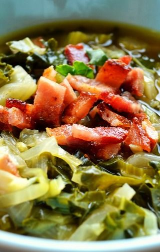 Kale (or Broccoli) Soup With Bacon And Cheese Recipes — Dishmaps