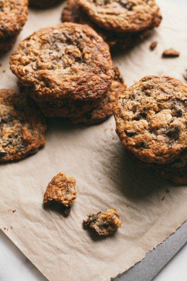 Cardamom Fig Chocolate Coconut Oatmeal Cookies | The Baking Bird