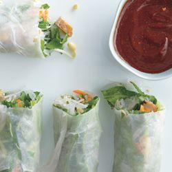 ... Rolls with Baked Tofu and Sweet-and-Savory Dipping Sauce | Rec