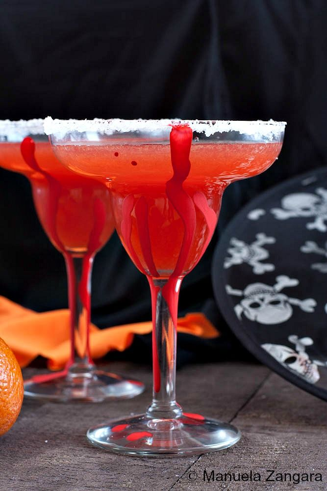 How about a spooky but delicious Blood Orange Margarita for Halloween?