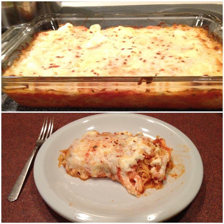 Spaghetti Squash Lasagna | Vegetables | Pinterest