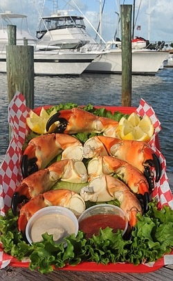 ... - home of the lobster rueben and stone crab claws. #joescrabshack
