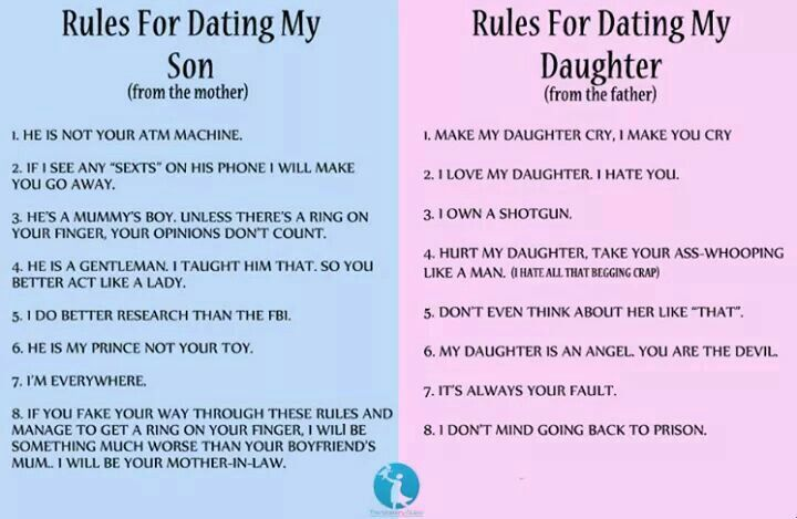 rules for dating my daughter meme