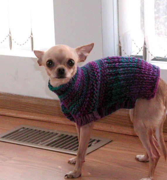 PDF Knitting Pattern for Easy Garter Stitch Dog Sweater