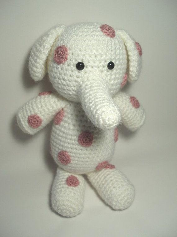 Spotted Elephant Crocheted Stuffed Animal Toy... Christina Myers ...