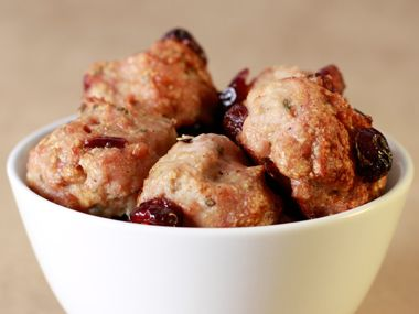 Turkey Meatballs... serve on a french roll w/cranberry sauce & turkey ...