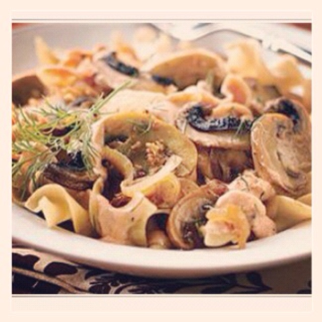 Portobello mushroom stroganoff from clean eating