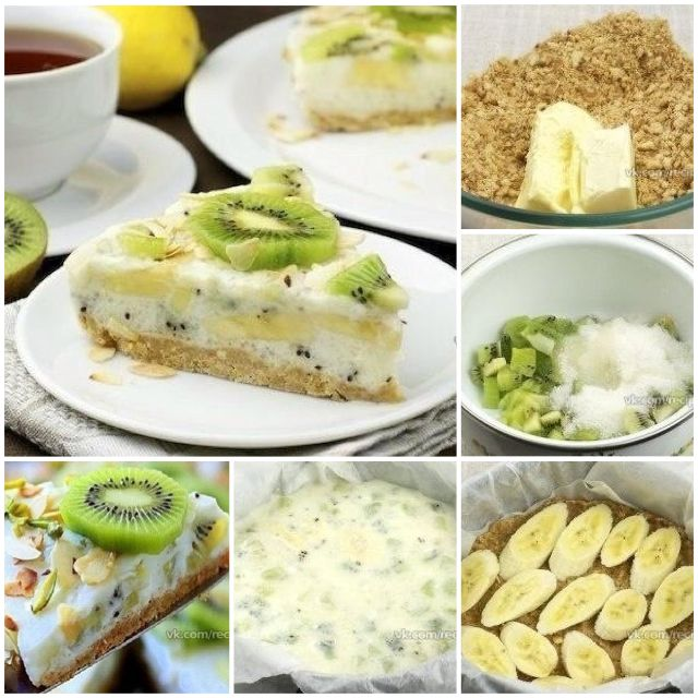 Торт йогурт с бананом рецепт и