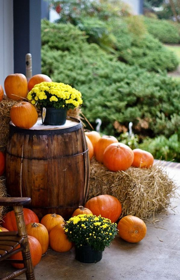 Outside Fall Decor Fall Harvest Pinterest