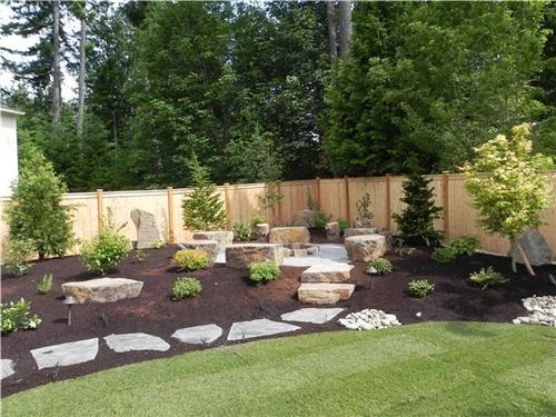 Backyard  fire pit | landscaping | Pinterest