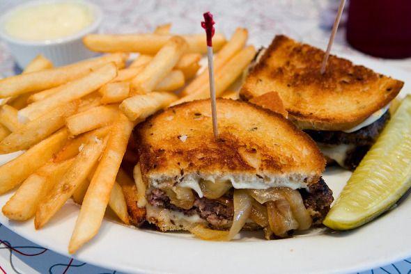 Classic diner fare - the all American patty melt recipe