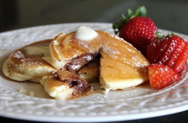 Nutella Stuffed Pancakes. | Breakfast Time! | Pinterest