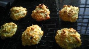 Four Cheese Cheddar & Bacon Drop Biscuits~