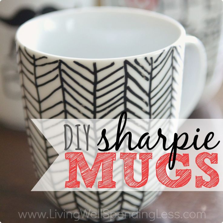 How to Make DIY Sharpie Mugs | Are Sharpie Mugs Dishwasher Safe?-- tells you what to use to make them dishwasher safe!