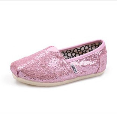 Toms Kids Shoes Pink Tiny Glitters