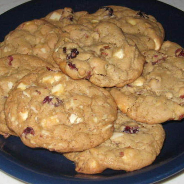 White Chocolate, Cranberry & Almond Cookies