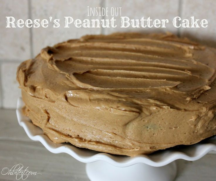 Inside Out Reese's Peanut Butter Cup Cake!