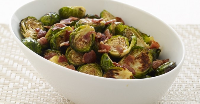 ... weekend. Roasted Brussels Sprouts with Bacon & Maple-Balsamic Drizzle